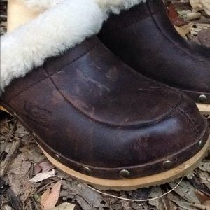 UGG Shoes - Ugg Leather Clogs Good Condition
